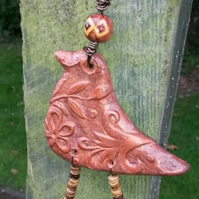Bird Decoration, rustic, wall hanging, gift, hippie, woodland, boho.