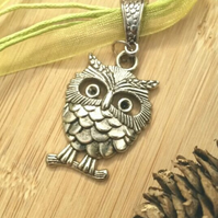 Lime Green Owl Charm, Rustic, Earthy, Hippie, Gift, Boho.