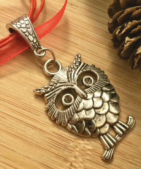 Red Owl Charm, Earthy, Hippie, Gift, Ornament, Boho, Woodland.