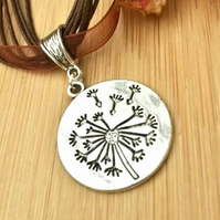 Dandelion Necklace,  Nature, Love Gift, Gift Ideas, Nature Lovers, Hippie, Boho