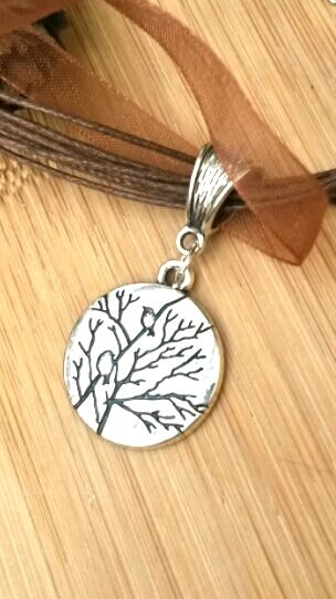 Tree and Bird Necklace, Nature, Love Gift, Gift Ideas, Stocking Filler xx