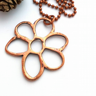 Antique Copper Daisy Charm Chain, Earthy, Hippie, Boho, Woodland.