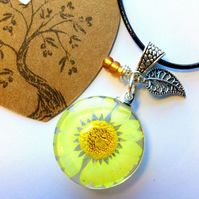 Dried Flower Chrysanthemum Pendants, Earthy, Hippie, Woodland.