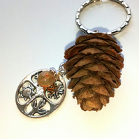 Four Seasons Keyring or Handbag Charm, Earthy, Hippie, Woodland.