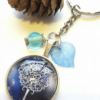 Blue Tree of Life Keyring or Handbag Charm, Nature, Earthy, Woodland.