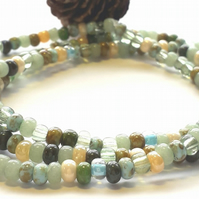 Sea Moss Stacking Bracelet. Nature, Earthy, Woodland, Rustic, Hippie, Boho.
