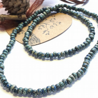 Men's Beaded Necklace. Surfer Style Everyday Necklace. Men's Gift.