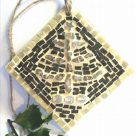 Mosaic Christmas Tree Decoration, Gift Ideas, Wall Hanging, Ornament, Nature.