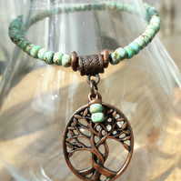 Tree of Life Necklace, Seafoam Green. Nature, Gift Ideas, Love Gift  xx