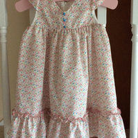 Girls dress 2 to 3 years floral pinks