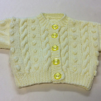 Babies yellow button up cardigan chest size 20 inch