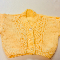 Yellow babies dark  yellow cardigan chest size 22 inch