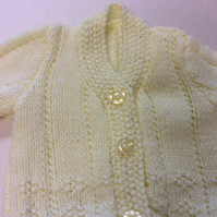 Babies yellow hand knitted cardigan chest size 18 inch