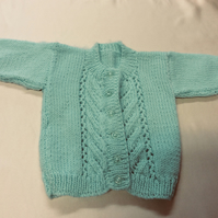 Babies mint green cardigan chest size 19 inches
