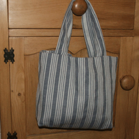 Tote bag in french ticking