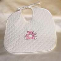 Babies embroidered teddybear bib