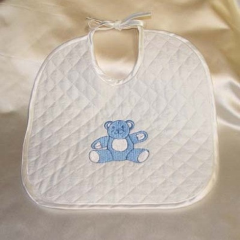 Babies bib embroidered with cute teddybear