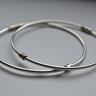 Handmade Silver and Gold Bangle