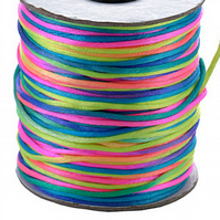 10m pack of 2mm Multi coloured Rats Tails
