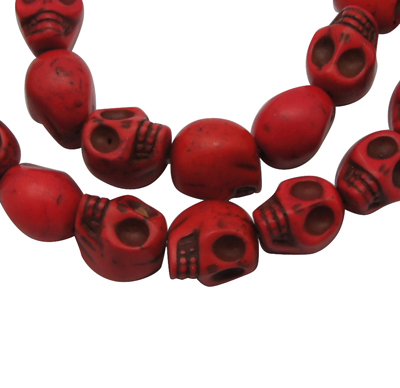 Strand of Red Candy Skulls