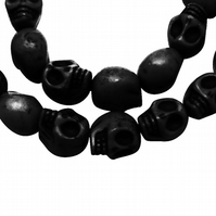 Strand of Black Candy Skulls