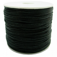 Pack of 10M of 2mm Black silky rattails