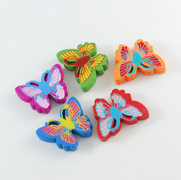 25 Wooden Butterly beads