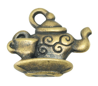 10 Sweet little Tea pots in Antique Bronze