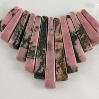 Lovely 13 piece Rhodonite Frill