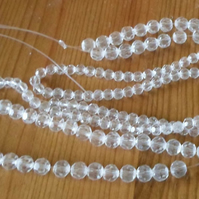 Strand of 6mm Faceted Lead Crystal Beads