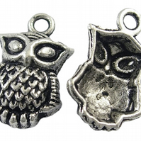 10 Lovely Antique Silver Owls