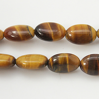 Strand of 12mm Oval Tigers Eye Beads