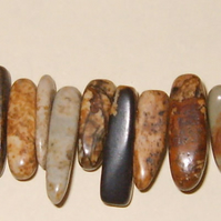 "16"" Strand of Picture jasper chips"