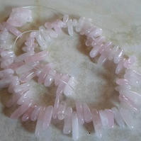 "16"" Strand of Rose Quartz Drop Chips"