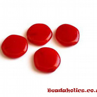 20 x Flat Czech Glass Disc beads