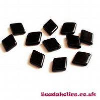 20 x Czech Glass Black Diamond drop Beads