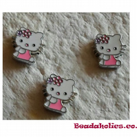 3 Hello Kitty Slide Charms