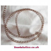 1 Metre of Brown Mesh tubing