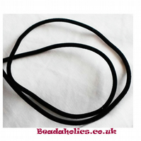 2 Metres of Black Velet tubing