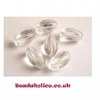 10 x clear Rice Beads