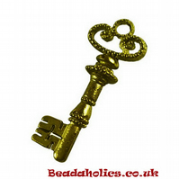 10 Antique Bronze Key Charms