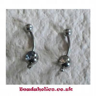 2 Surgical Steel Belly Bars