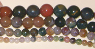 Strand of 10mm Indian Agate Beads