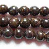 Strand of 6mm Bronzite Round Beads