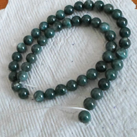 Strand 8mm Moss Agate Beads