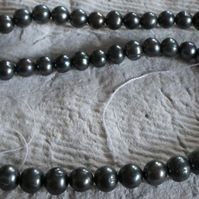Strand of Black 7mm Pearls