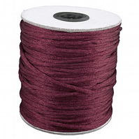 10 Metres of 2mm Maroon silky cord