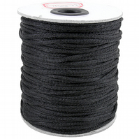 10m of 2mm Black Silky cord