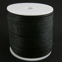 10 Metres of 1mm waxed cotton cord
