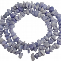 "33"" strand of Large Lavender Jade chips"